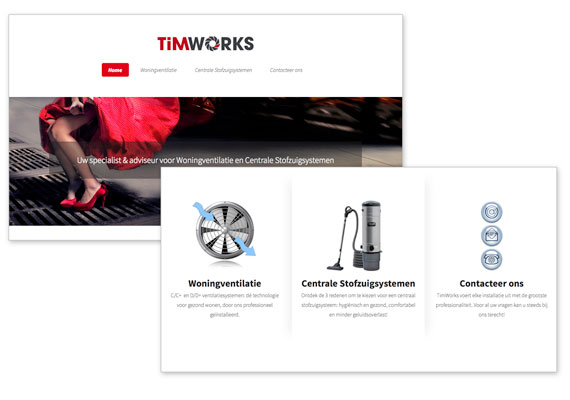 HTML5 responsive website for TIMWORKS.BE