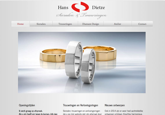 HTML5 responsive website for HANSDIETZE.COM, inclusing a virtual tour of his shop and street.